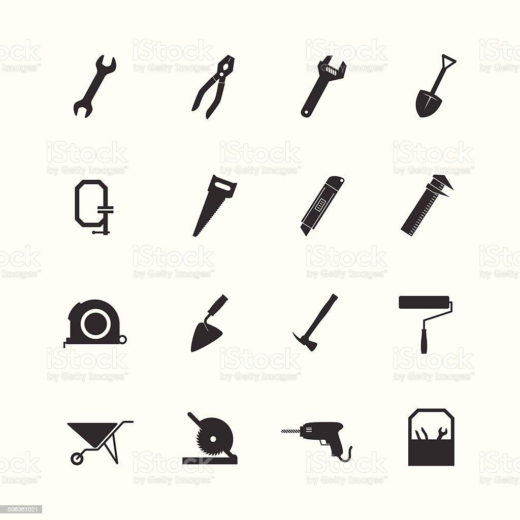 Construction Equipment icon vector art illustration
