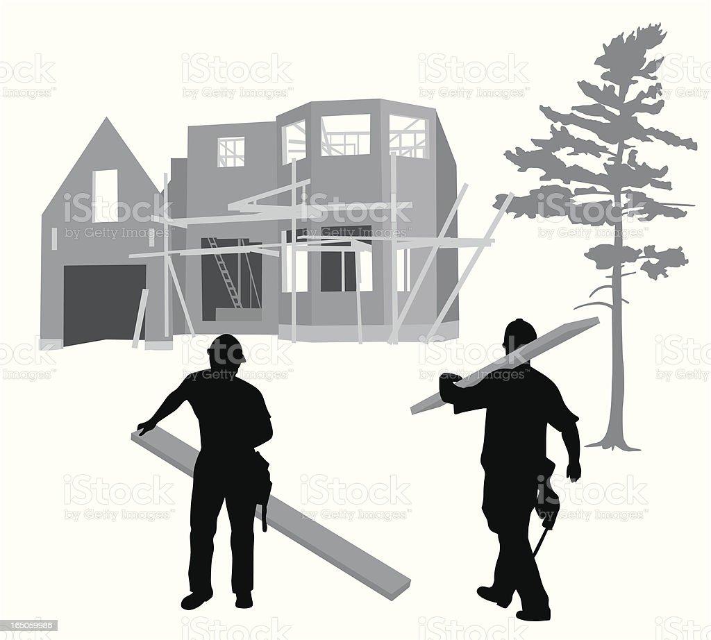 Construction Framing Vector Silhouette royalty-free stock vector art