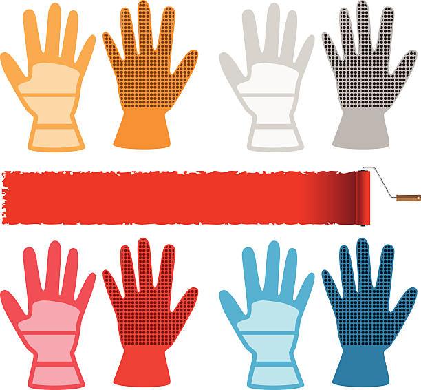 bau-handschuhe - schutzhandschuhe stock-grafiken, -clipart, -cartoons und -symbole
