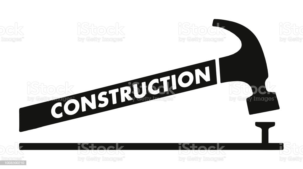 Construction Hammer And Nail Stock Vector Art More Images Of Black