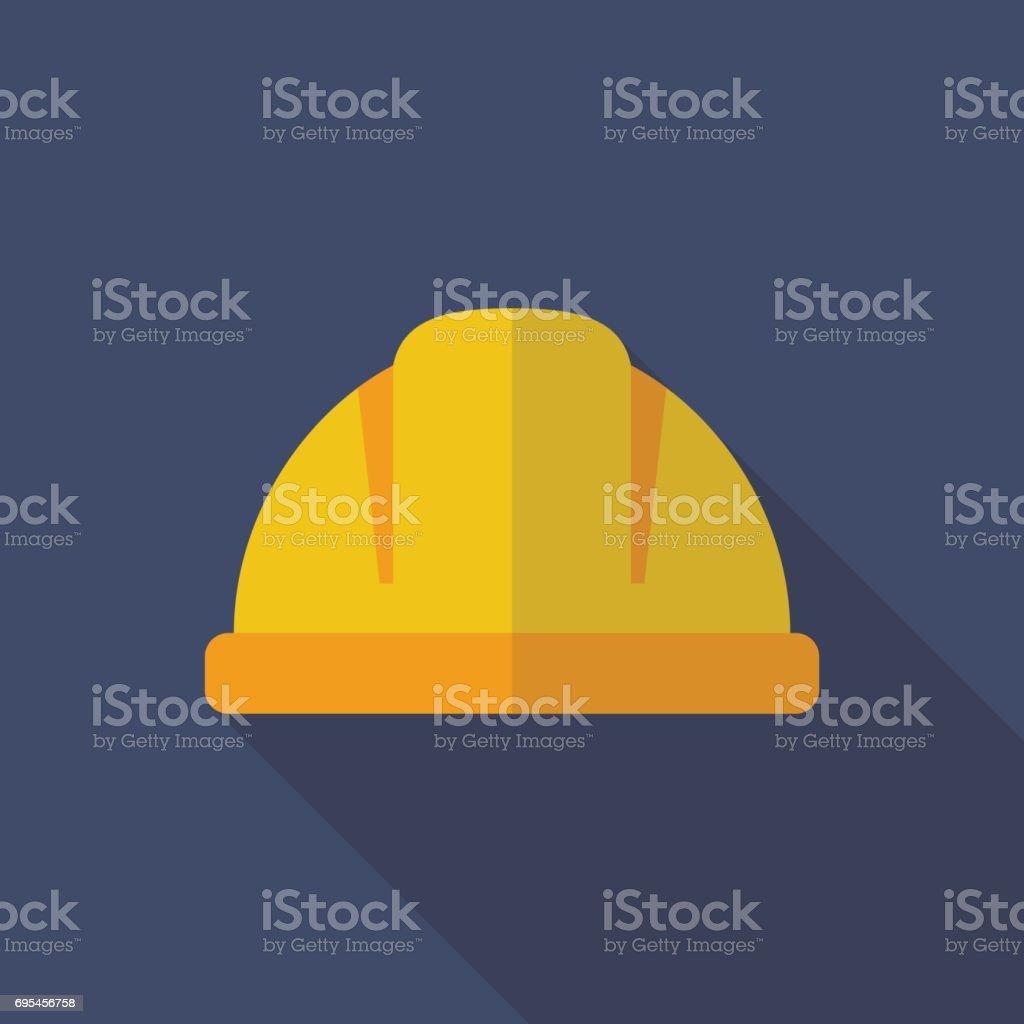 Construction helmet flat icon vector art illustration