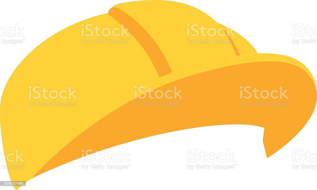 Construction helmet illustration vector art illustration