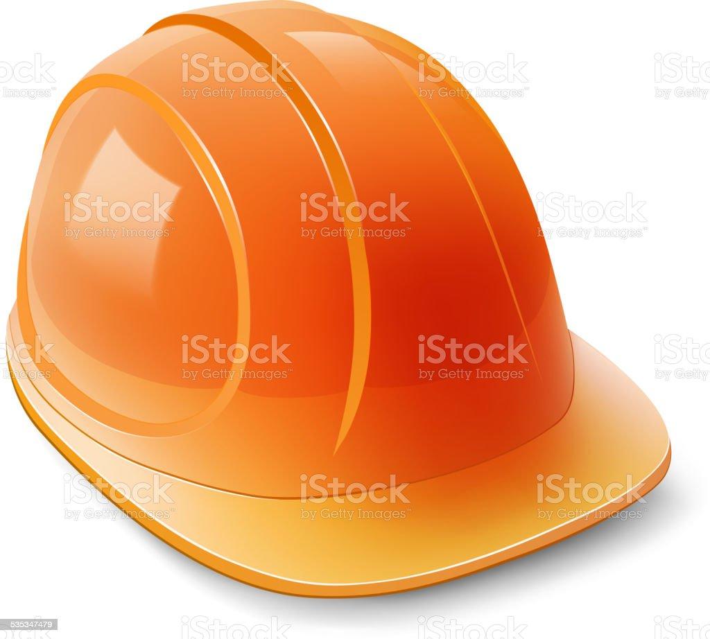 Construction helmet on a white background vector art illustration