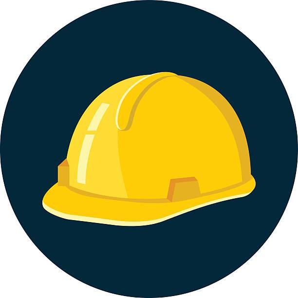 kask budowlany - kask ochronny odzież ochronna stock illustrations