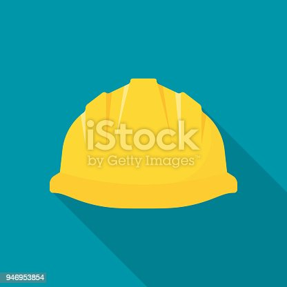 istock Construction helmet. Yellow safety hat 946953854