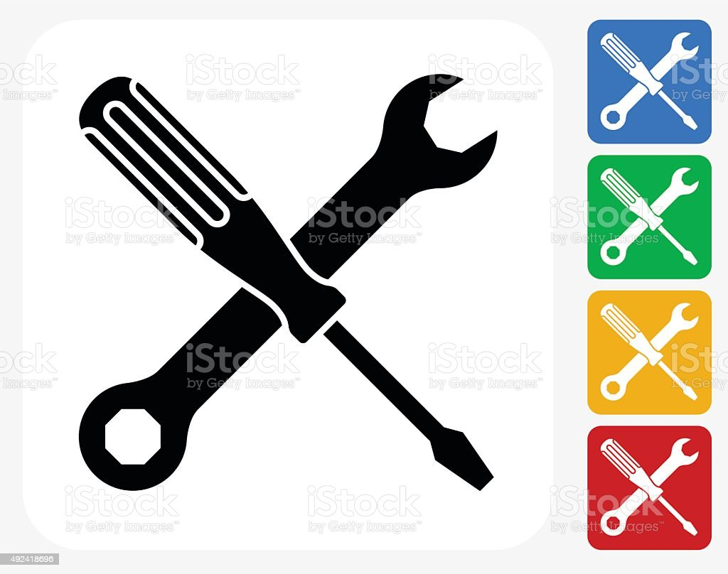 Construction Icon Flat Graphic Design vector art illustration