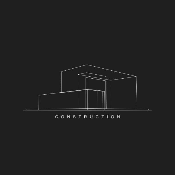 construction icon for design - architecture designs stock illustrations