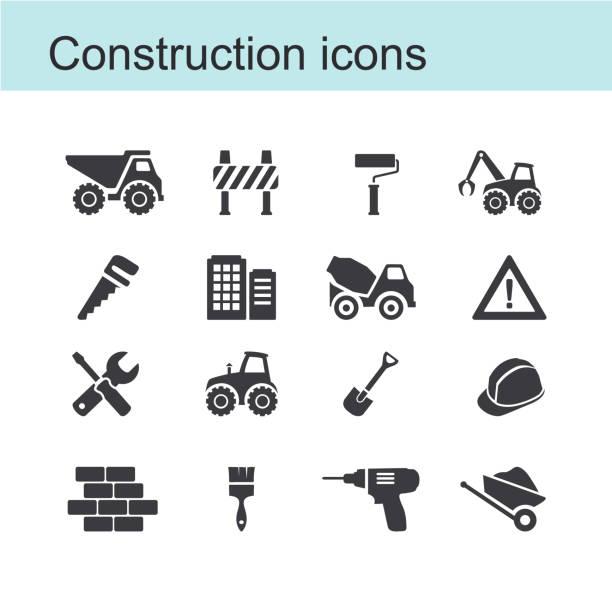 stockillustraties, clipart, cartoons en iconen met bouw pictogram - shovel