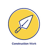 Construction related offset style vector illustration.