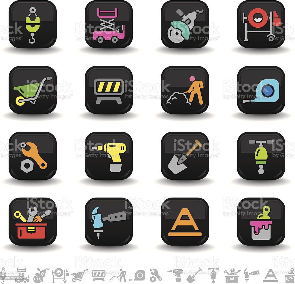 Construction icons | bbton series royalty-free stock vector art