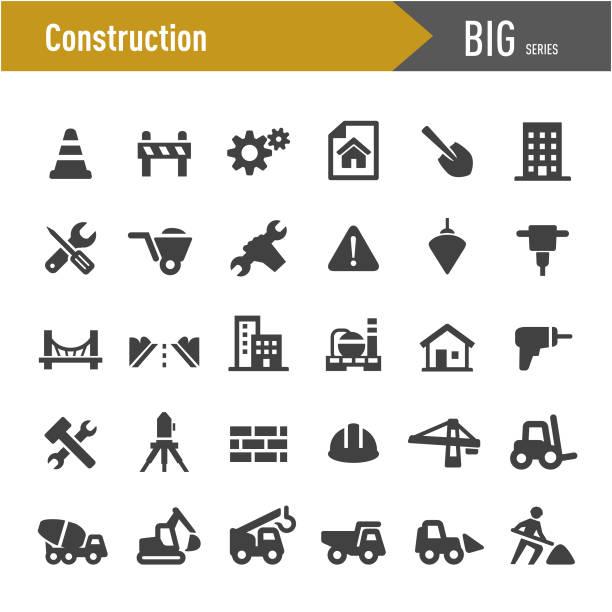 stockillustraties, clipart, cartoons en iconen met bouw iconen-grote series - shovel