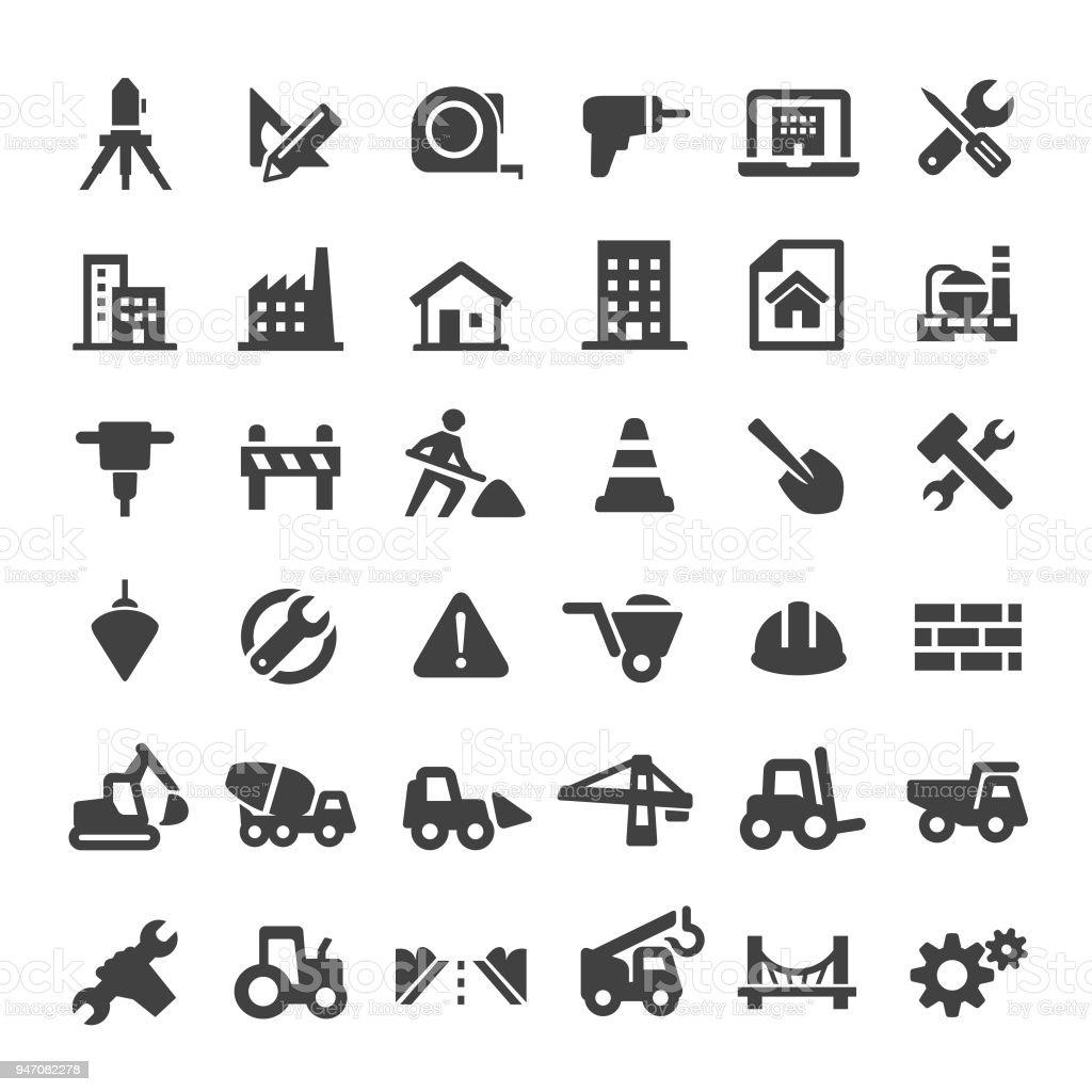 Iconos de construcción - grandes Series - ilustración de arte vectorial