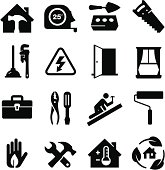 Home builder's icon set. Professional icons for your print project or Web site. See more icons in this series.