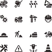 Vector file of Construction Icons - Black Series