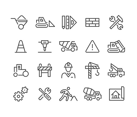 Construction Icons - Classic Line Series