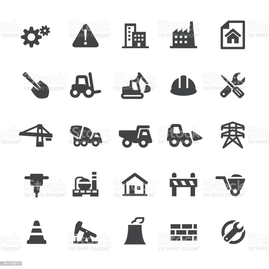 Construction Icons - Smart Series vector art illustration