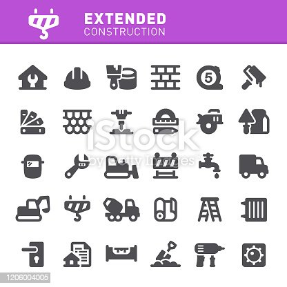 Construction, construction site, repair, home repair, icon, icon set, home improvement, work tools