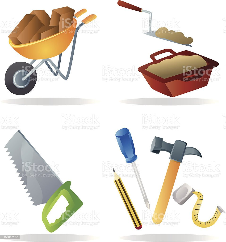 Construction icons royalty-free construction icons stock vector art & more images of beaker