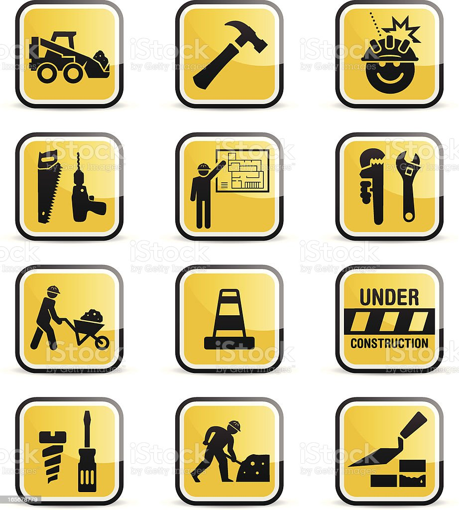 Construction Icons royalty-free stock vector art