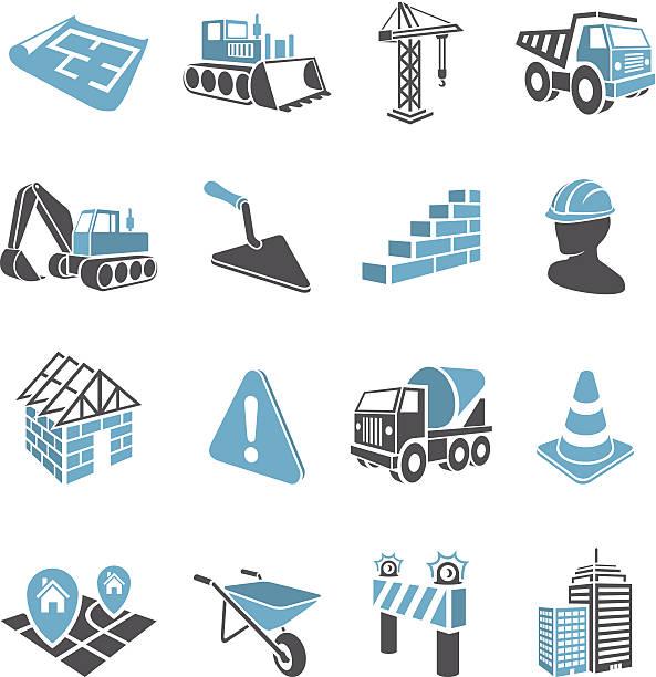 3 D Construction Icons – Vektorgrafik