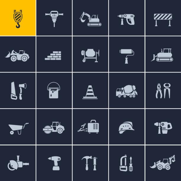 Construction Icons – Vektorgrafik