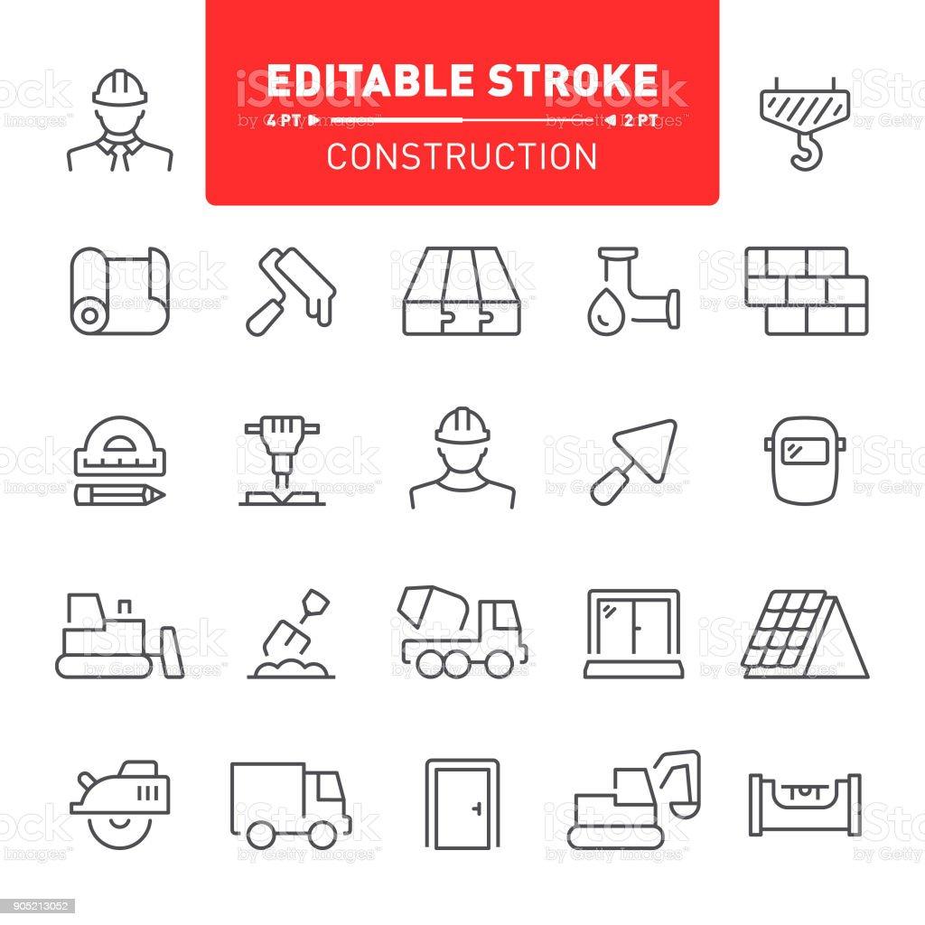 Construction Icons vector art illustration