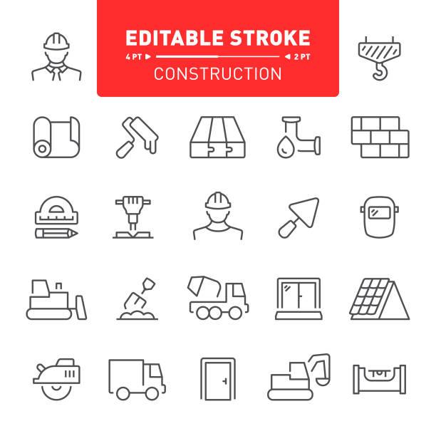 Iconos de construcción - ilustración de arte vectorial
