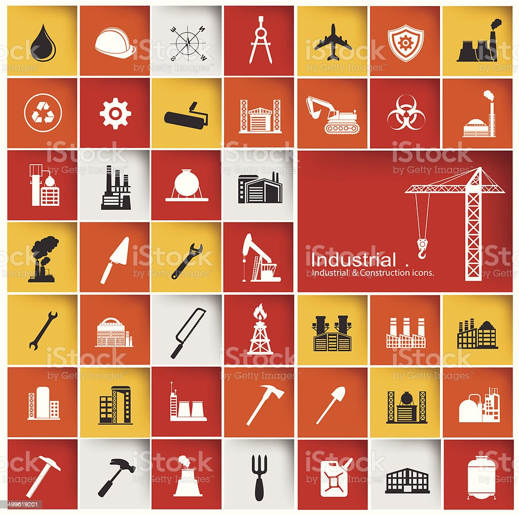 Construction & Industry icon set,vector royalty-free stock vector art