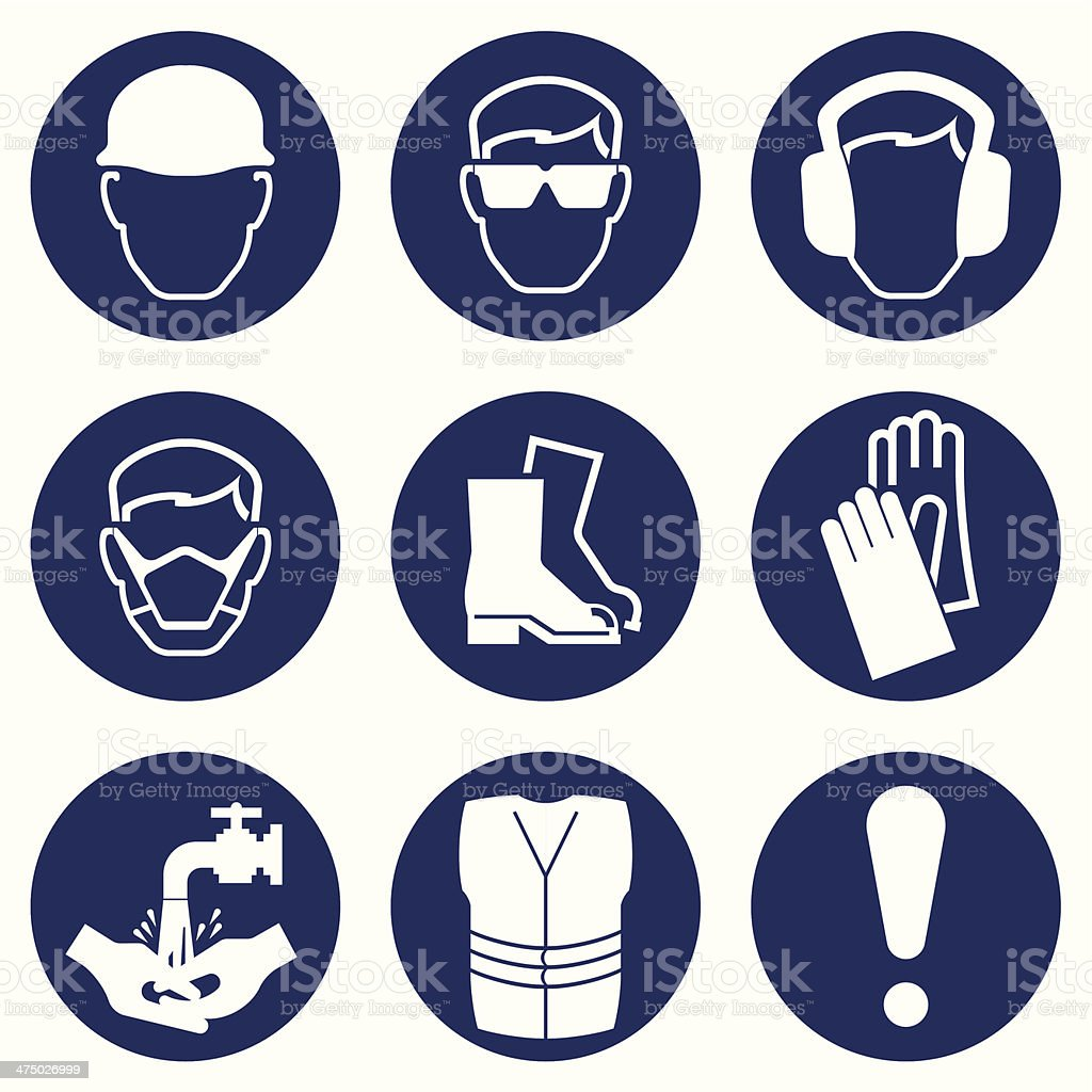Construction Industry Icons vector art illustration
