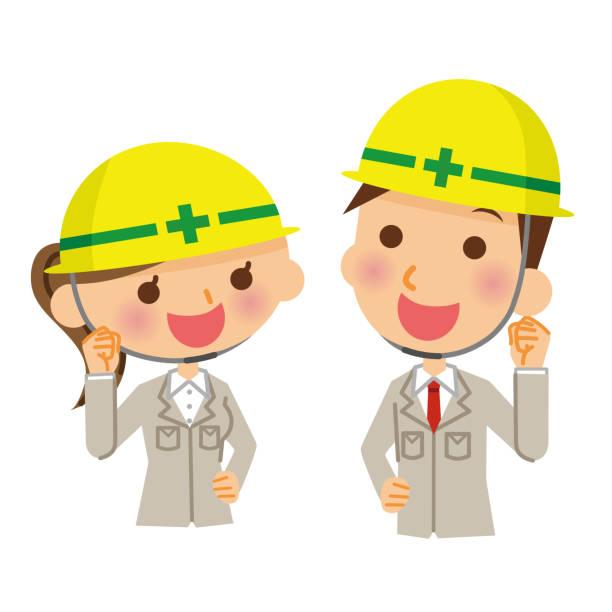 工事現場 日本人 イラスト素材 Istock