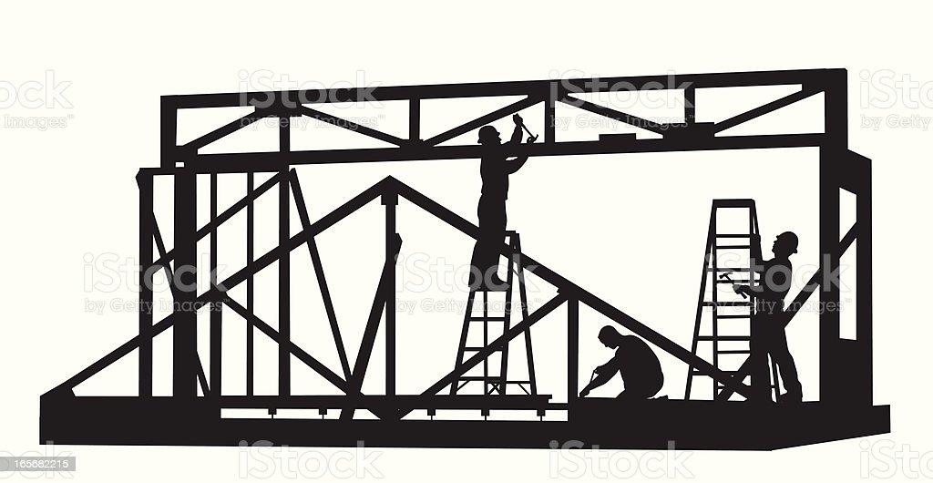 Construction Jobs Vector Silhouette royalty-free stock vector art