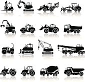 Construction Machine Icon Set