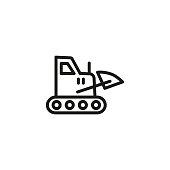 Construction machine line icon