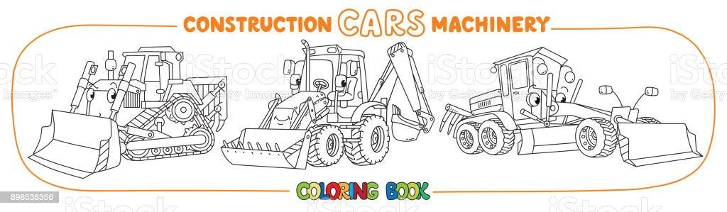 Livre De Coloriage Transport Construction Machinery Vecteurs