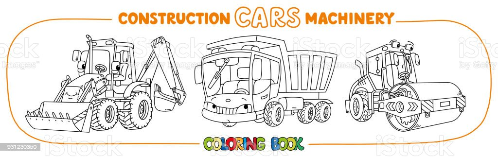 Construction Machinery Transport Coloring Book Stock Vector Art ...