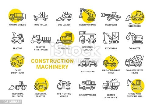 Construction Machinery vector icon