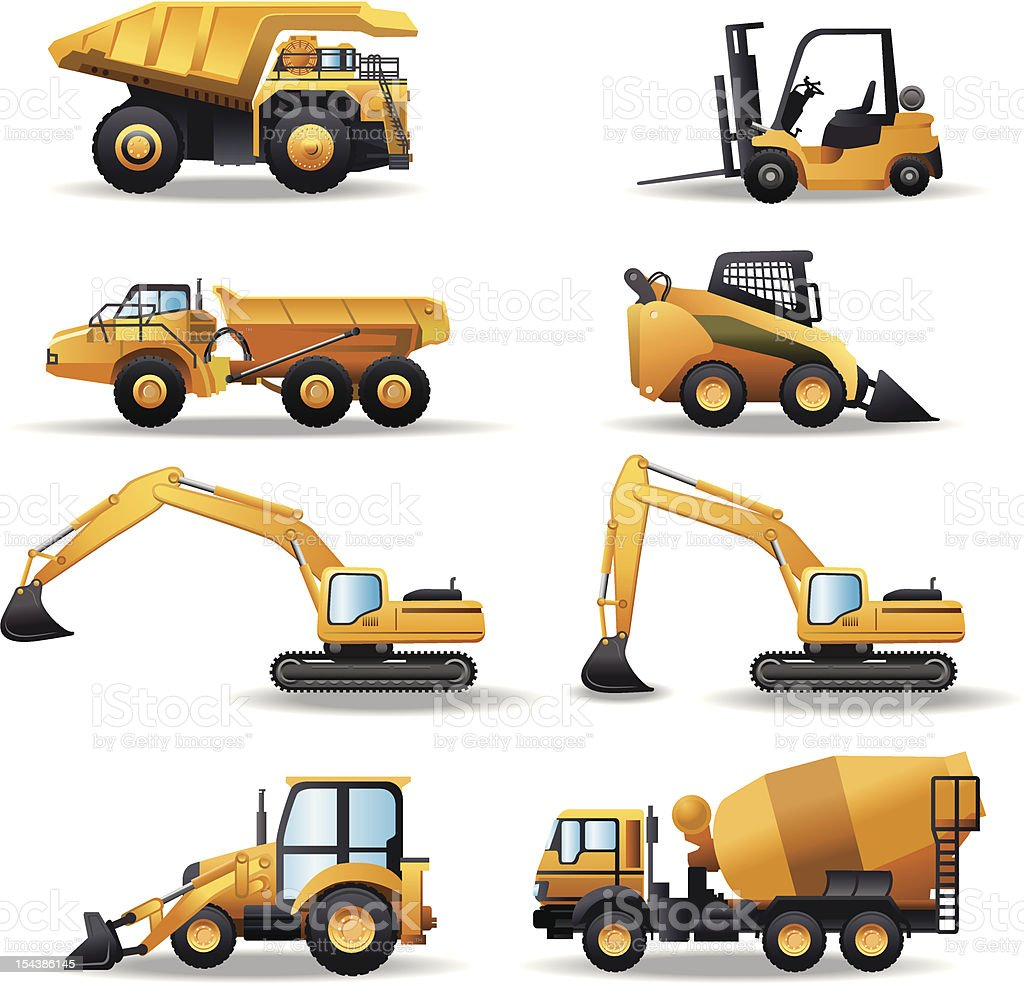 Construction Machinery vector art illustration