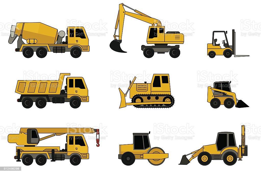 Ilustración de Iconos De Construcción De Máquinas y más banco de ...