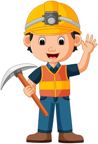 illustrations, cliparts, dessins animés et icônes de hache de holding homme construction - man axe wood