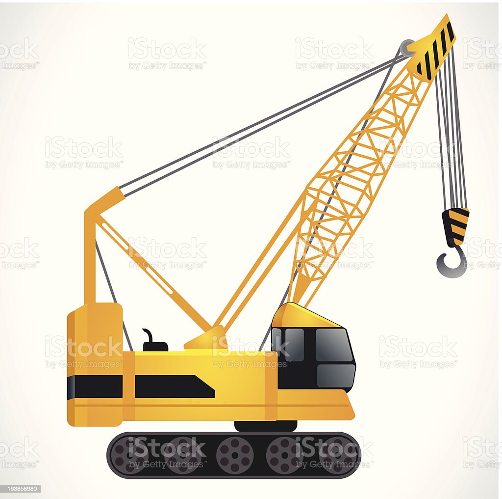 construction motor crane royalty-free construction motor crane stock vector art & more images of arts culture and entertainment