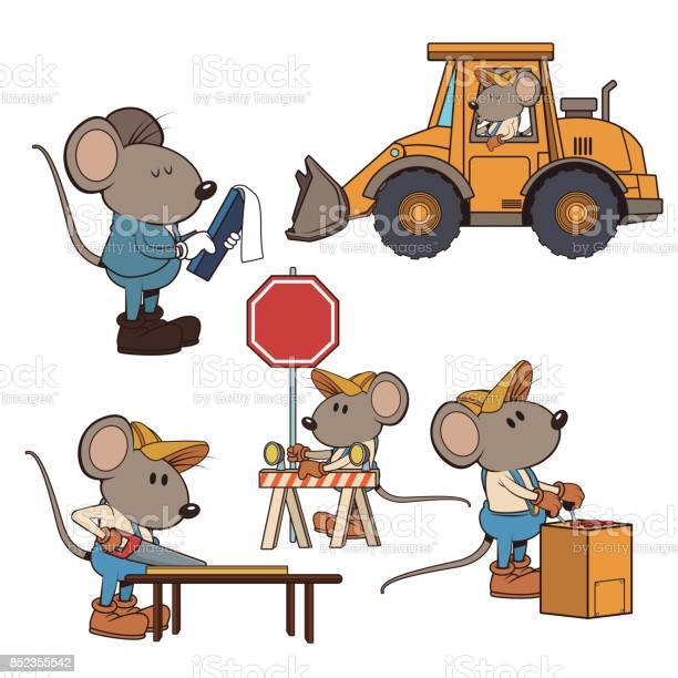 Construction mouse workers funny cartoon vector id852355542?b=1&k=6&m=852355542&s=612x612&h=1gni974g3zd1i7m6b1txvinjyhhpyobvhfk3q8qayjg=