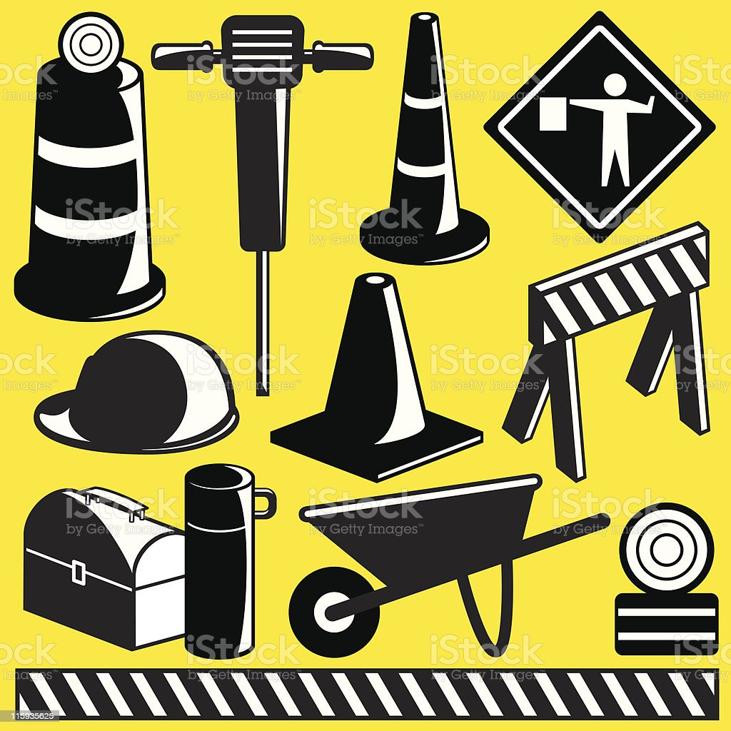 Construction Objects royalty-free construction objects stock vector art & more images of color image