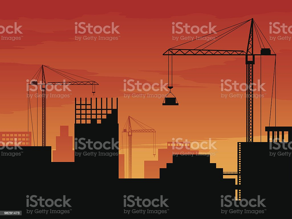 Construction of modern buildings royalty-free construction of modern buildings stock vector art & more images of architecture