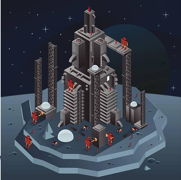ilustraciones, imágenes clip art, dibujos animados e iconos de stock de construcción de cohete - gran inauguración