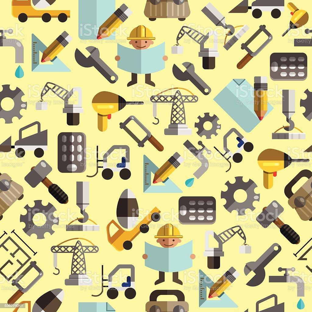 Construction pattern2 vector art illustration