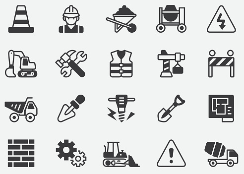 Construction Pixel Perfect Icons