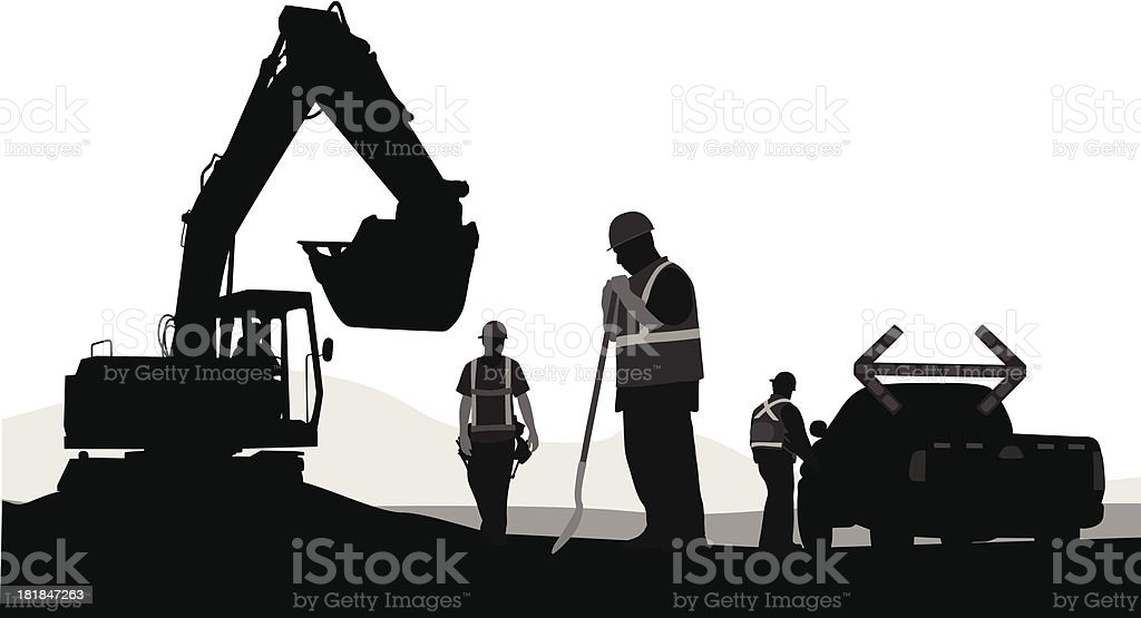Construction Planning royalty-free stock vector art