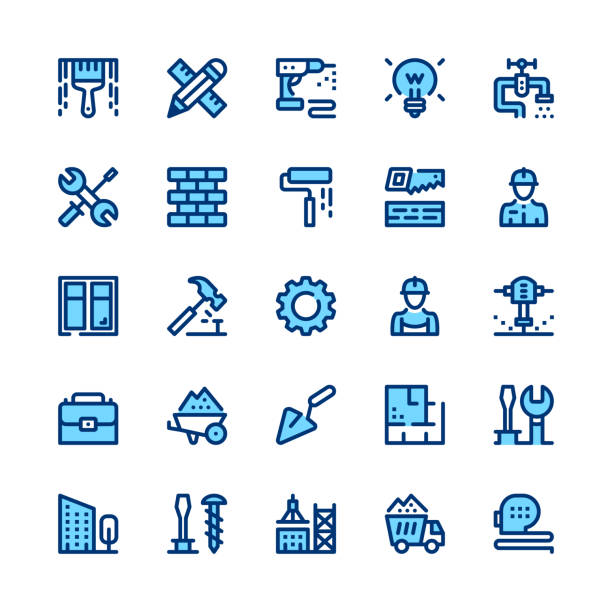 Construction, repair tools line icons set. Modern graphic design concepts, simple symbols, linear stroke web elements, pictograms collection. Minimal thin line design. Premium quality. Pixel perfect. Vector outline icons Construction, repair tools line icons set. Modern graphic design concepts, simple symbols, linear stroke web elements, pictograms collection. Minimal thin line design. Premium quality. Pixel perfect. Vector outline icons two people stock illustrations