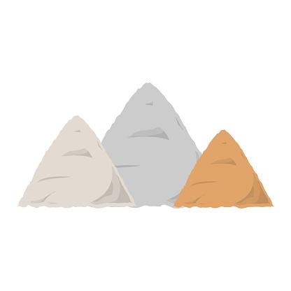 construction sand  vector illustratio