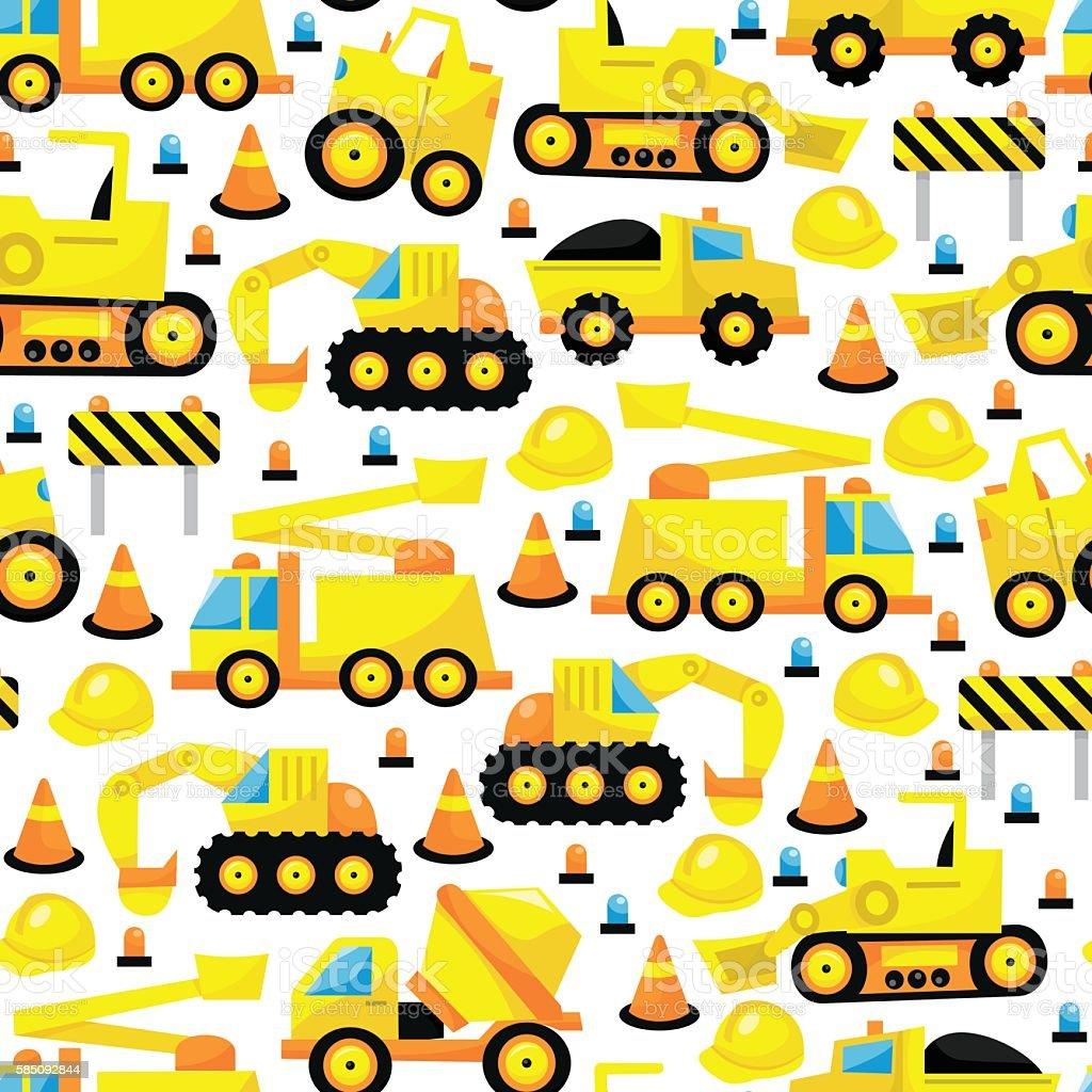 Construction Seamless Pattern Background vector art illustration